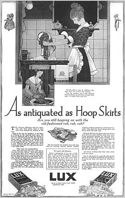 As Antiquated As Hoop Skirts Vintage Soap Ad  Poster