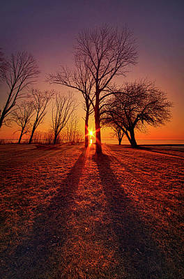 Poster featuring the photograph As Sure As The Sun Will Rise by Phil Koch