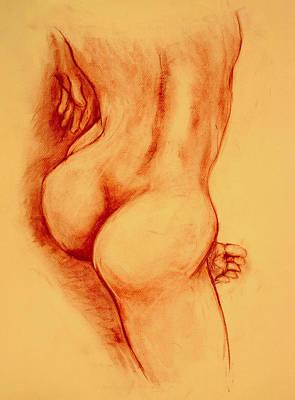 Asana Nude Poster by Dan Earle