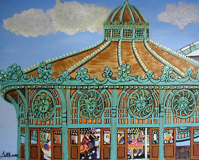 Asbury Park Carousel House Poster by Norma Tolliver