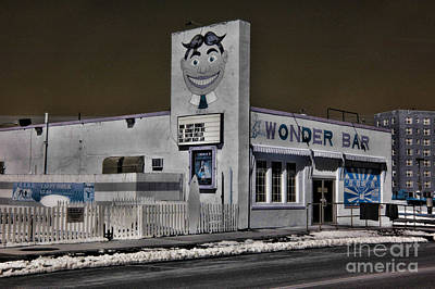 Asbury Park The Wonder Bar In Infared 1 Poster by Paul Ward