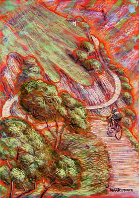 Ascending In Asturias Poster by Mark Howard Jones