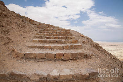 Poster featuring the photograph Stairway To Heaven - Masada, Judean Desert, Israel by Yoel Koskas