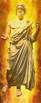 Poster featuring the photograph Asclepius Descending by Nigel Fletcher-Jones