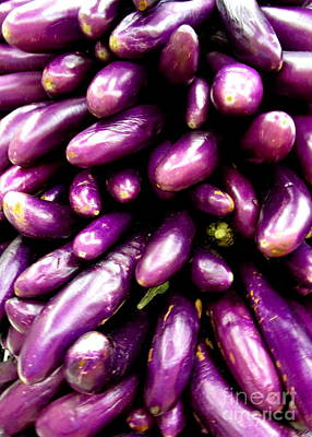 Asian Eggplant Poster by Randall Weidner