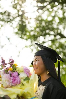 Asian Girl In Graduation Cap Poster by Gillham Studios
