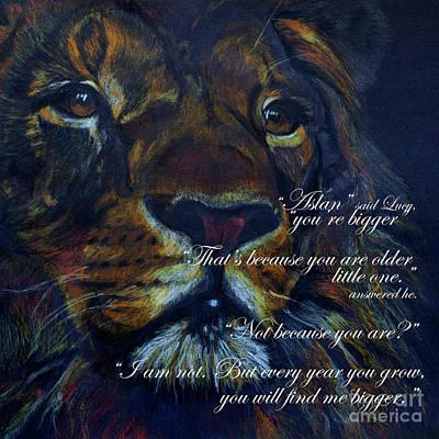 Aslan Quote Poster