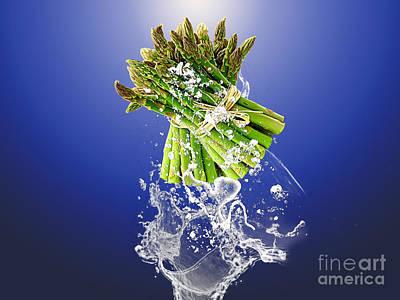 Asparagus Splash Poster