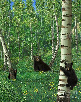 Aspen Bear Nursery Poster by Stanza Widen