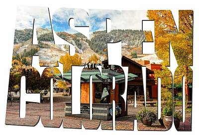 Aspen Colorado Typography - Welcome To Aspen Poster by Gregory Ballos