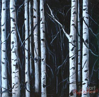 Poster featuring the painting Aspen Grove by Phyllis Howard
