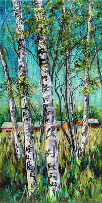 Aspens On The Farm Poster
