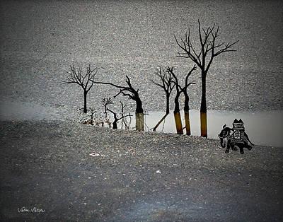 Asphalt Oasis Poster by Sabine Stetson
