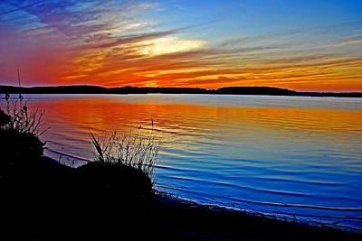 Assawoman Bay At Sunset Poster