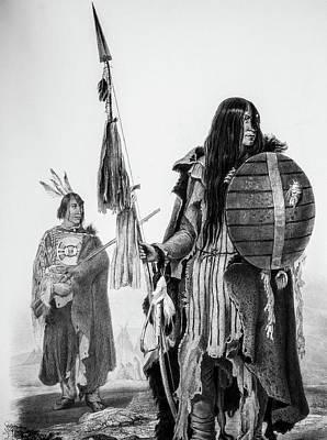 Assiniboin Native American Warriors Poster by Douglas Barnett