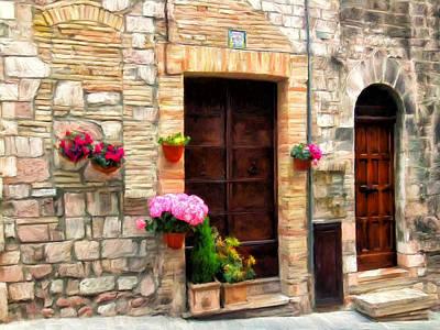 Assisi Doorways Poster