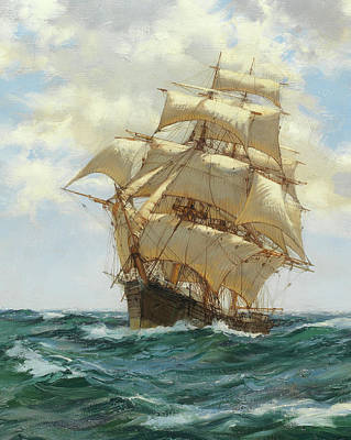 Asterion - Detail Poster by Montague Dawson