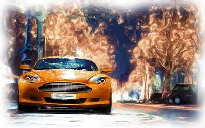 Aston Martin Canvas Prints Poster by Jerry Morison