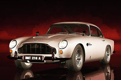 Poster featuring the painting Aston Martin Db5 by Jan Keteleer