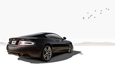Aston Martin Virage Poster