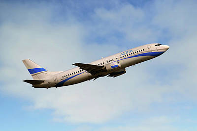 Astra Airlines Boeing 737-46j Poster