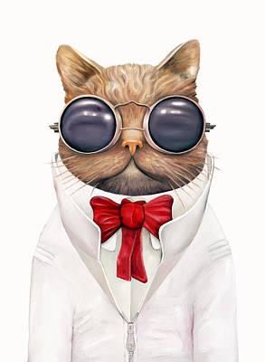 Astro Cat Poster by Animal Crew