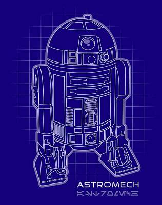 Astromech Blueprint Poster by Edward Draganski