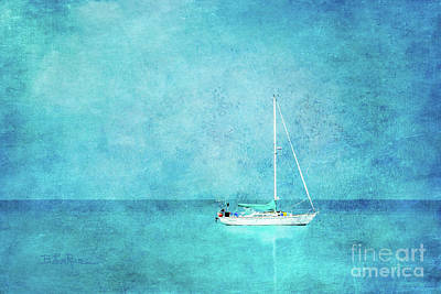 Poster featuring the mixed media At Anchor by Betty LaRue