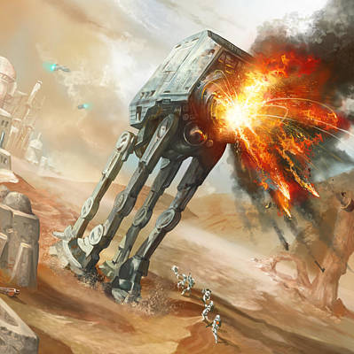 At-at Demolition Poster by Ryan Barger