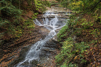 Poster featuring the photograph At Bridal Veil Falls by Dale Kincaid