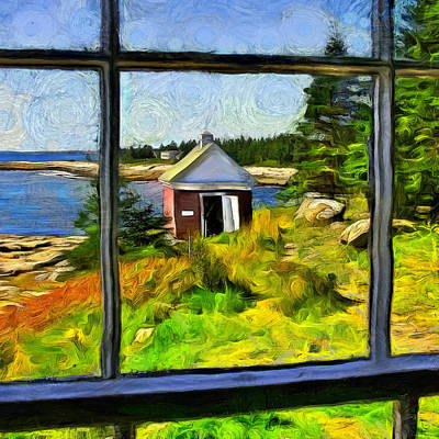 At Pemaquid Point Maine Poster