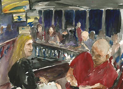 Poster featuring the painting At Prospect Bar by Brian Meyer