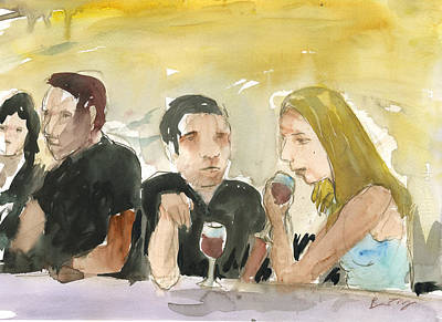 Poster featuring the painting At The Bar by Brian Meyer