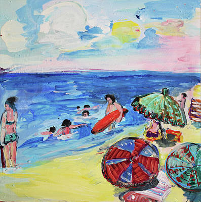 At The Beach Poster by Amara Dacer