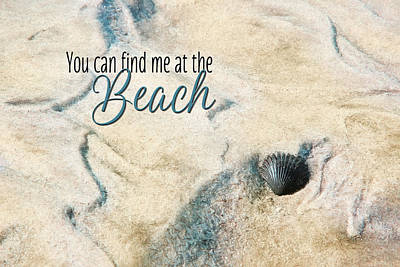 At The Beach Poster by Lori Deiter