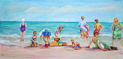 Poster featuring the painting At The Beach by Patricia Piffath