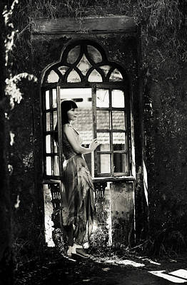 At The Gothic Window. Old Margao. Goa. India Poster