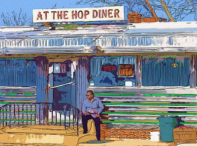 At The Hop Diner Poster by Rick Black