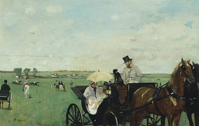 At The Races In The Countryside Poster by Edgar Degas