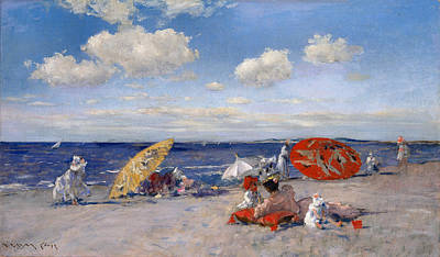 At The Seaside 1892  Poster by William Merritt Chase