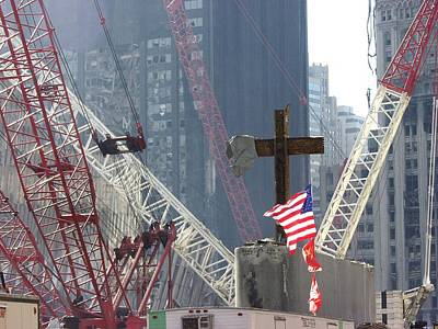 At The World Trade Center Disaster Site Poster