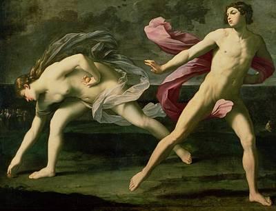 Atalanta And Hippomenes Poster by Guido Reni