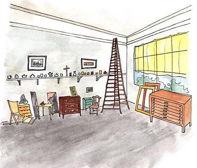 Atelier Of Paul Cezanne Poster