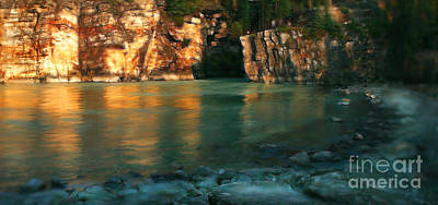 Athabasca At Sunset Poster
