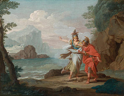 Athena Appearing To Odysseus To Reveal The Island Of Ithaca Poster by Giuseppe Bottani