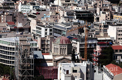 Athens Cityscape V Poster