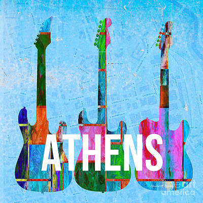 Athens Ga Music Scene Poster by Edward Fielding