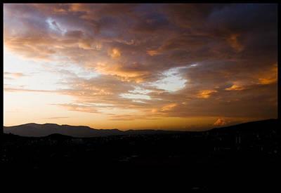 Athens Sunset Poster