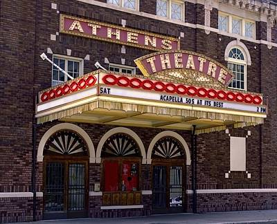 Athens Theatre - Top Billing Poster by Chrystyne Novack