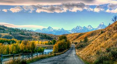 Atherton View Of Tetons Poster